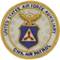 Civil Air Patrol Mess Dress: CAP Seal - bullion embroidered