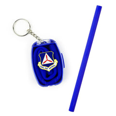 Civil Air Patrol:  Silicone Straw w/ Command Patch Logo
