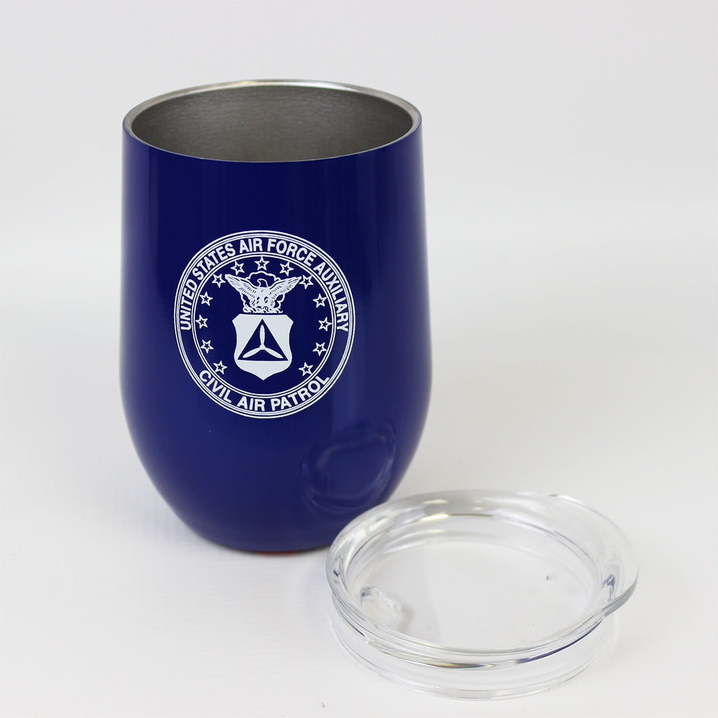 Civil Air Patrol:  Blue 12 oz Insulated Tumbler