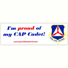 Civil Air Patrol:  Bumper Sticker Proud Of My CAP Cadet