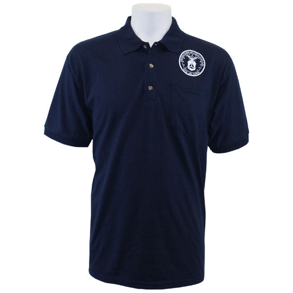 Civil Air Patrol Uniform: Golf Shirt with Screened Seal - navy blue