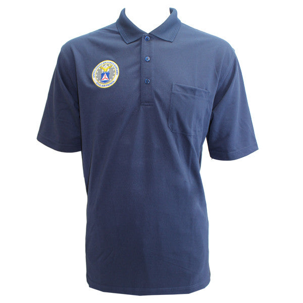 Civil Air Patrol Uniform: Golf Shirt with Seal - male **PLEASE CHECK THE SIZE MEASUREMENTS**