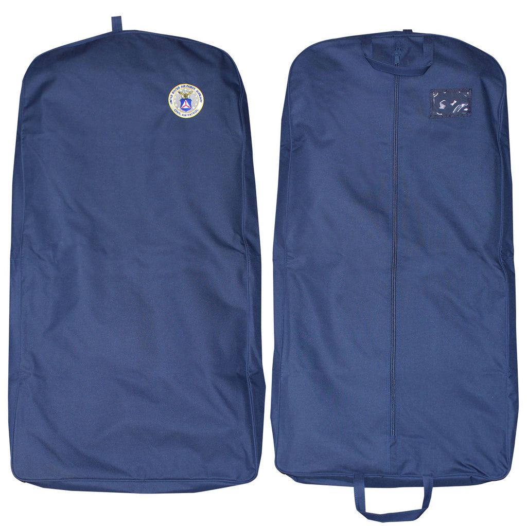 Civil Air Patrol Luggage: Blue Garment Bag with CAP Logo - center zip