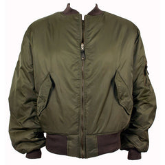 Reversible Nylon Flight Jacket - sage green