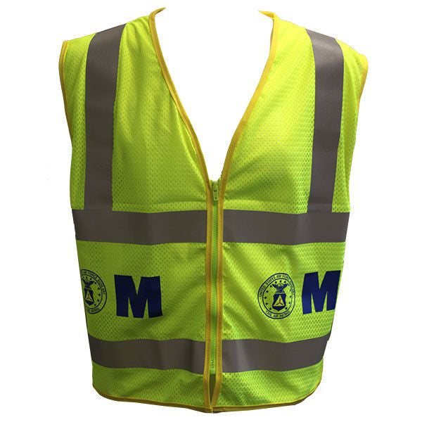Civil Air Patrol Lime Yellow Reflective Vest - Marshallers- ANSI Class II Approved
