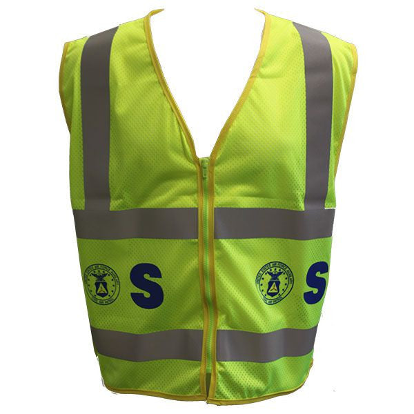 Civil Air Patrol Lime Yellow Reflective Vest for Supervisors - ANSI Class II Approved
