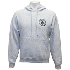 Civil Air Patrol Leisure Sweatshirt: Hooded Ash Grey Fleece