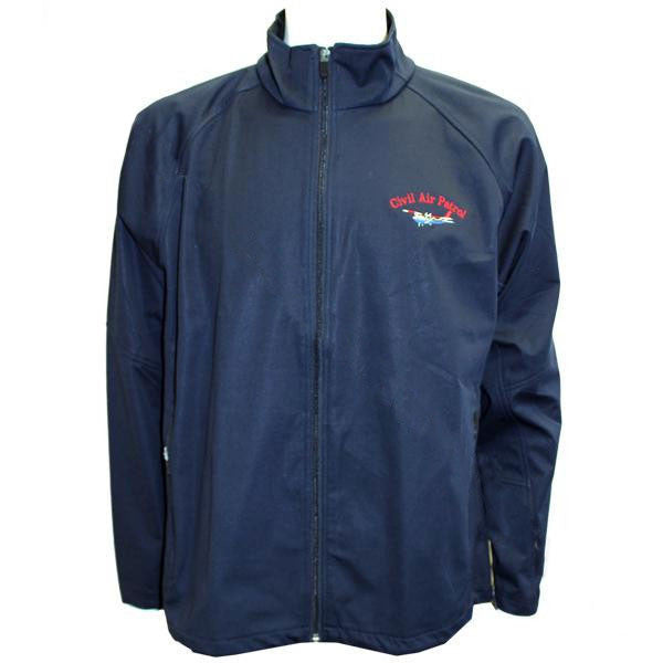 Civil Air Patrol: Navy Blue Soft Shell Jacket w/embroidered Cessna
