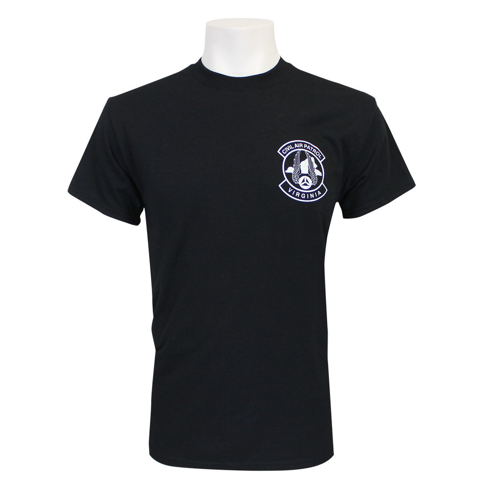 Civil Air Patrol Leisure T-Shirt: Virginia Wing (black)
