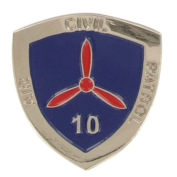 Civil Air Patrol: Lapel Pin for 10 Years of Service