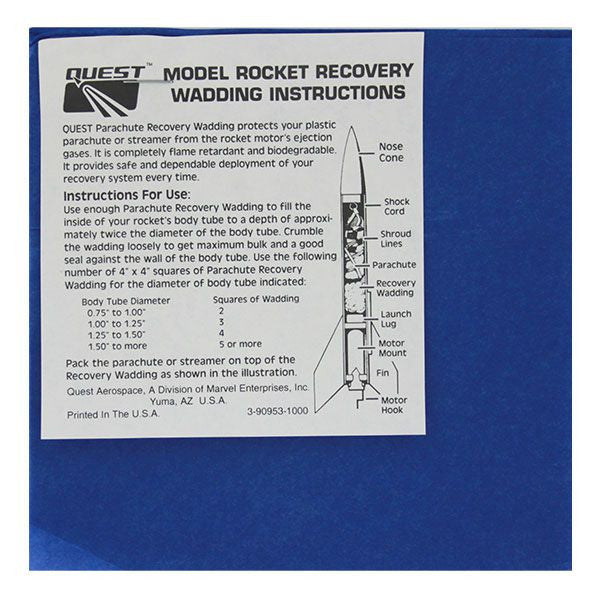 Civil Air Patrol Model Rocketry: Recovery Wadding