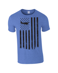 Civil Air Patrol Leisure T-Shirt: Distressed Flag (Blue)
