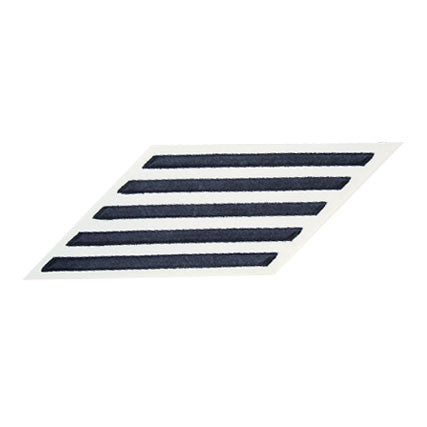 Navy CPO Hash Marks: Blue Embroidered on White CNT - set of 5