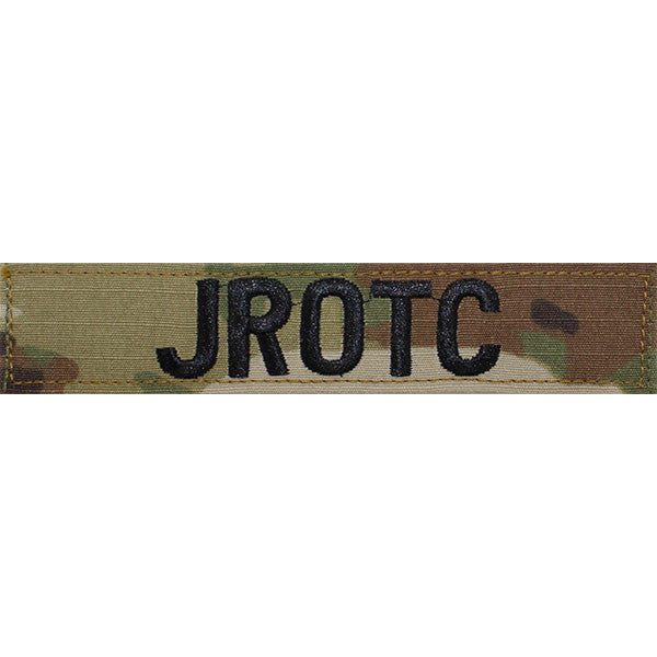 Army JROTC Name Tape: JROTC - embroidered on OCP with Hook