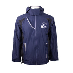 Navy League Mens Blue Waterproof Jacket with Rollaway Hood
