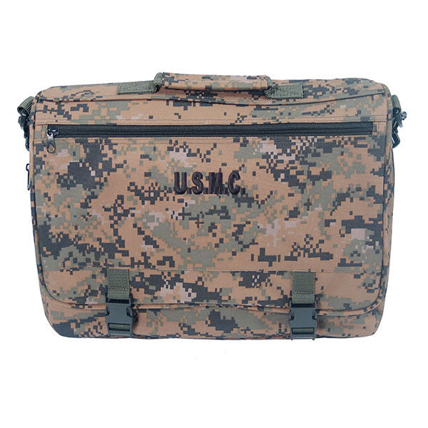 Marine Corps Flapover Attache Bag: Woodland Digital Camouflage