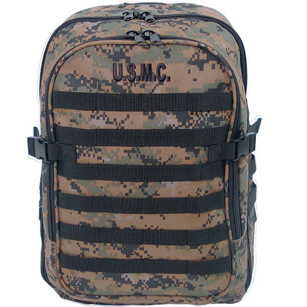 Marine Corps MOLLE Backpack: Digital Woodland