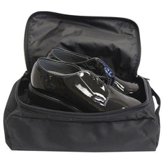 Black Polyester Shoe Bag