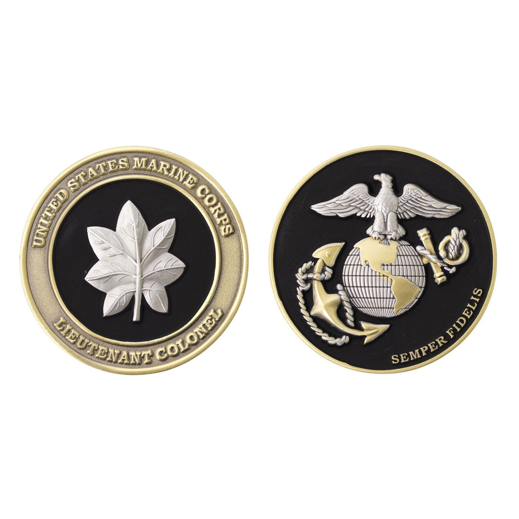 Marine Corps Coin: Lieutenant Colonel 1.75