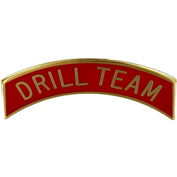 Army ROTC Arc Tab: Drill Teamed - gold plated