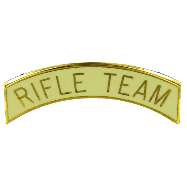 Army ROTC Arc Tab: Rifle Team - gold plated