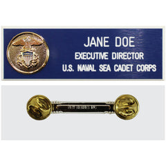 USNSCC Adult Name Plate with Shield