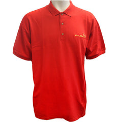 Young Marine's Polo Shirt: Red with Yellow Swoosh Logo