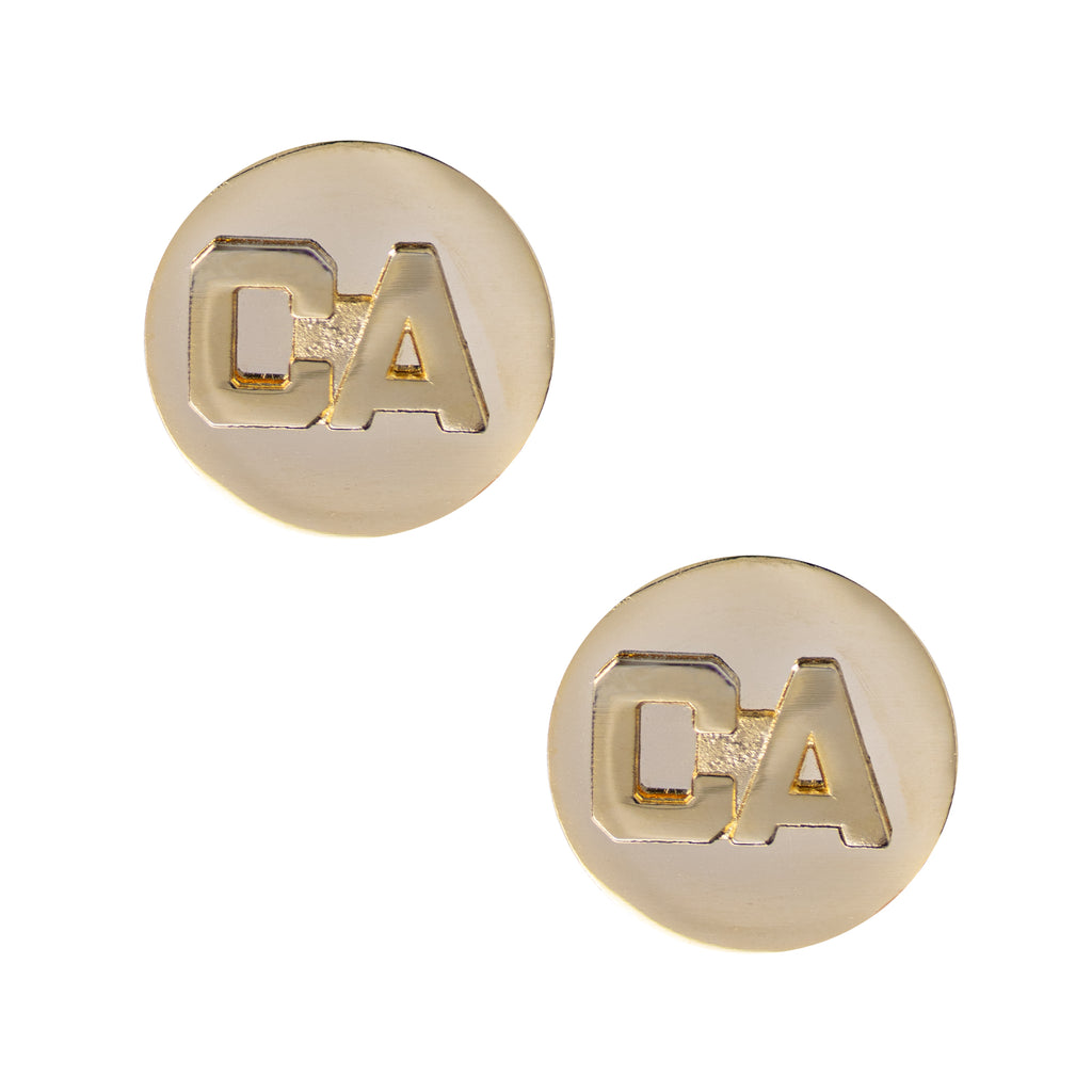 California National Guard Enlisted Branch of Service Collar Device: CA Letters with Disc