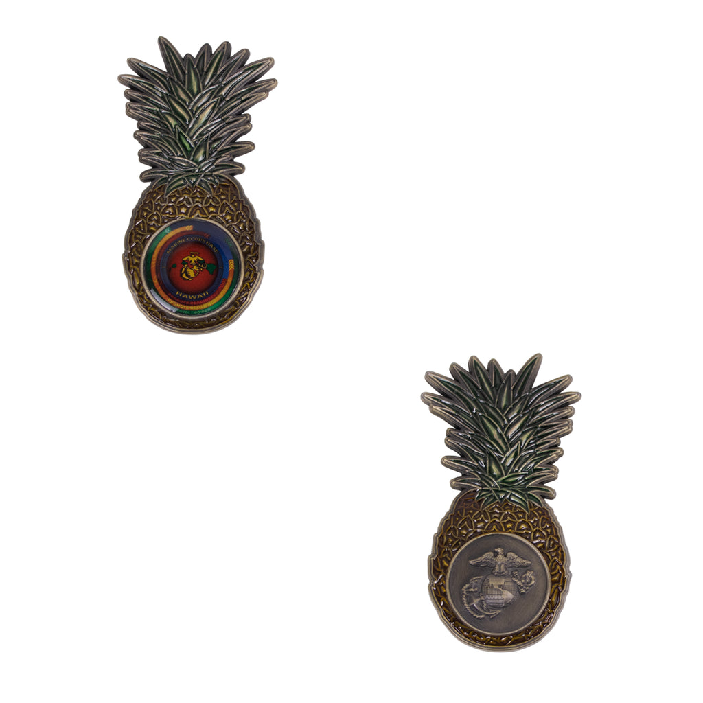 Marine Corps Coin: Marine Corps Air Station Kaneohe Bay Pineapple Shape
