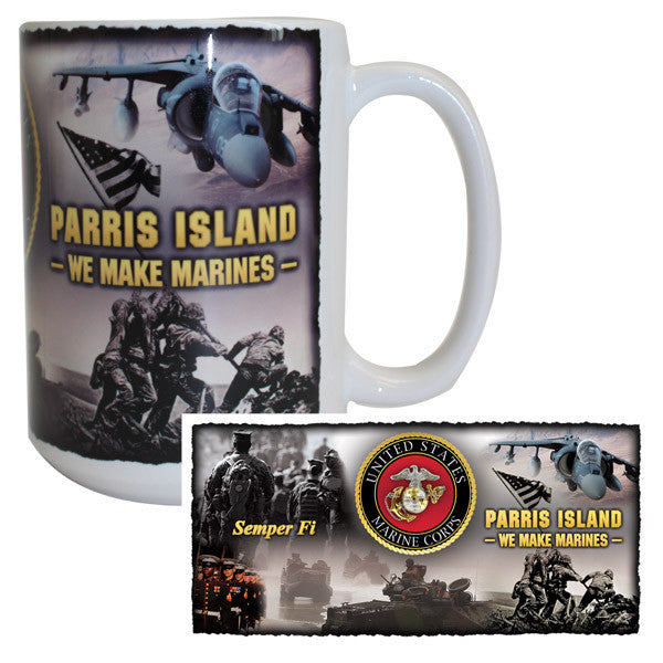 Marine Corps Mug -  MCRD Parris Island - We Make Marines