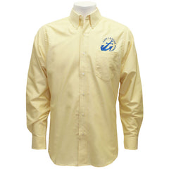 Navy League Men's Butter Long Sleeve Oxford Shirt With Blue Logo