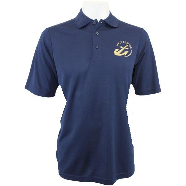 Navy League Women's Navy Performance Polo Shirt with Gold Logo