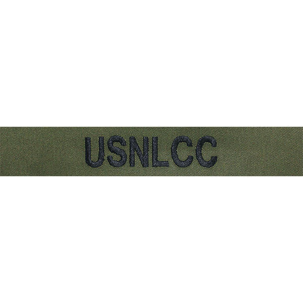 NLCC Name Tape: Black Embroidered on OD -  (USNLCC)