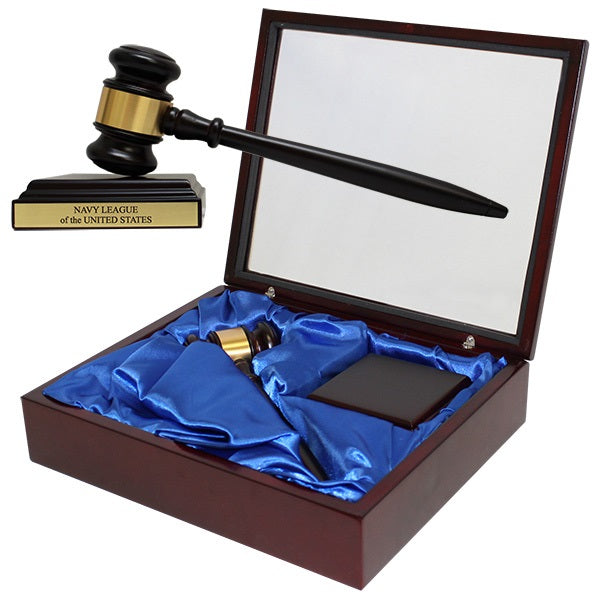 Rosewood Piano Colored Gavel Set