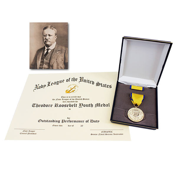 Medal Set Theodore Roosevelt with NJROTC Certificate