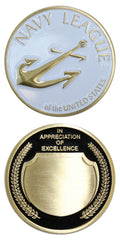 Navy League Appreciation Coin - Antique Gold