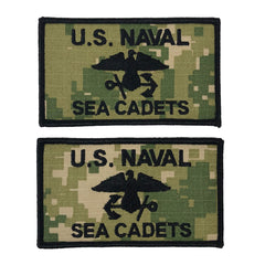 USNSCC - Flash Black Type III (Pair L&R) for Cadets w/Hook Closure