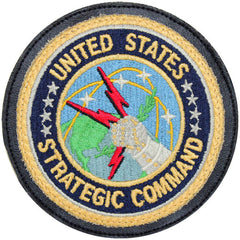 Patch: United States Strategic Command - leather with hook closure