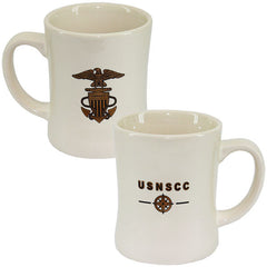 USNSCC - Natural Coffee Mug with Logo and Compass