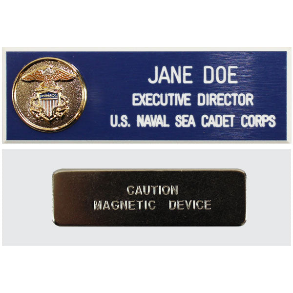 USNSCC Adult Name Plate with Shield and Magnetic Back