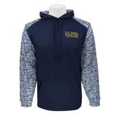 USNSCC Badger Sweatshirt: Hooded Navy Blue