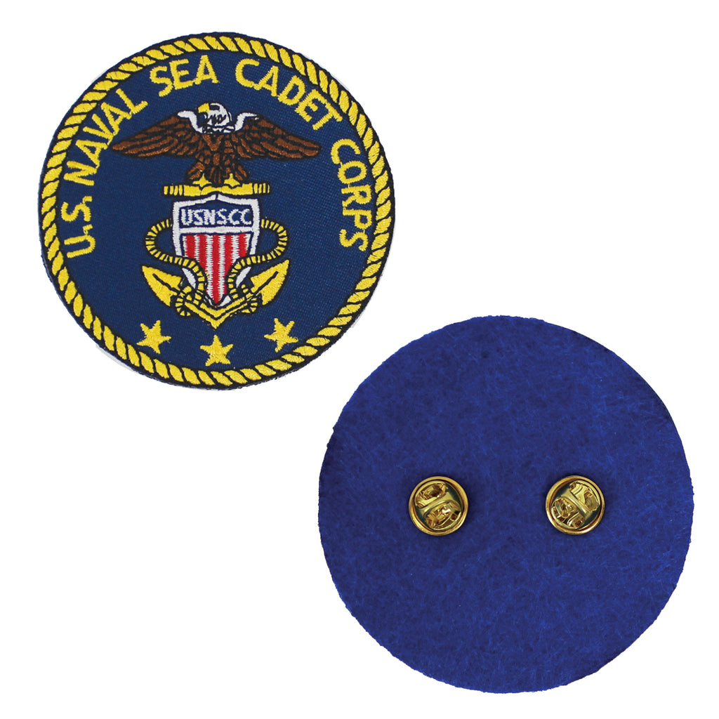 USNSCC Blazer Patch : Embroidered USNSCC Logo with Clutch Backing