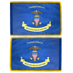 USNSCC Naval Sea Cadet Corps Unit Flag - Applique Double Sided