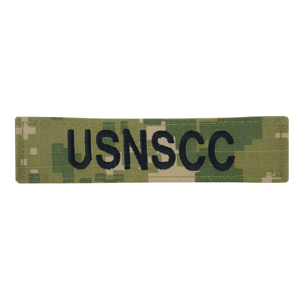USNSCC Name Tape: Embroidered on Type III with Hook Closure