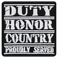 Veteran Patch: Duty Honor Country