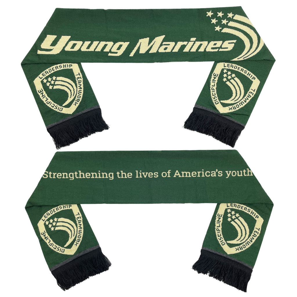Young Marines: Knit Scarf with fringe