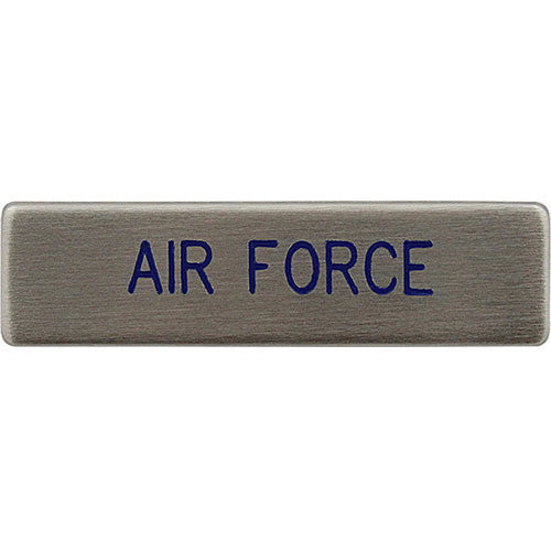 USAF Name Plate - silver brushed -  (NAME IS REQUIRED-IF NO NAME IS GIVEN LINE ITEM WILL BE CANCELLED)