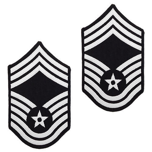 Air Force Embroidered Chevron: Chief Master Sergeant - large color