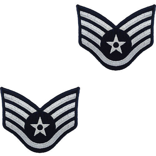 Air Force Embroidered Chevron: Staff Sergeant - small color
