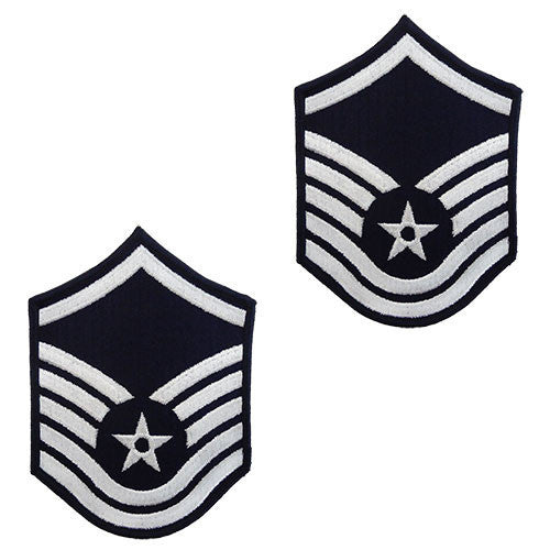Air Force Embroidered Chevron: Master Sergeant - small color